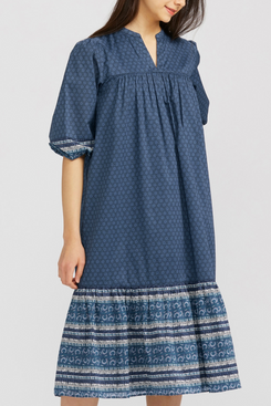 Uniqlo Anna Sui Cotton 3/4 Sleeve Dress