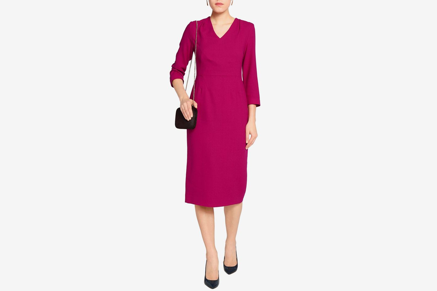 Goat wool crepe dress