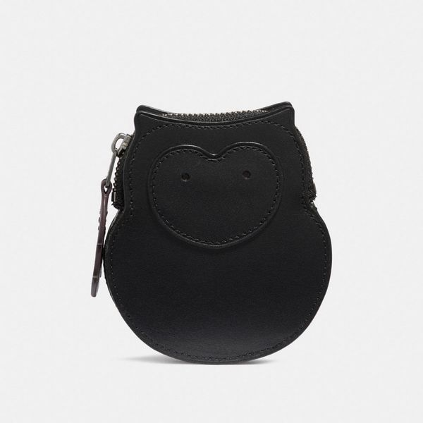 coach black owl coin case coach-summer-sale