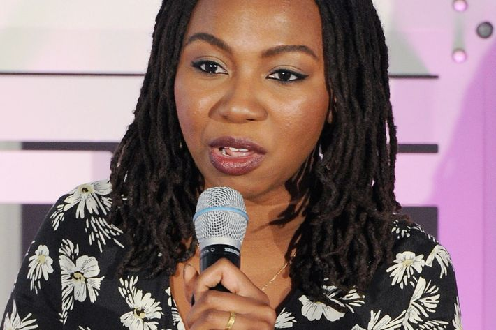 Black Lives Matter co-founder Opal Tometi at a New York panel last November.