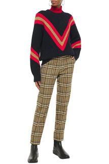 Rag & Bone Leon Oversized Striped Ribbed Cotton-Blend Sweater