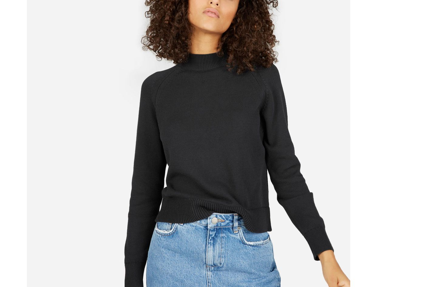 Everlane Cotton Mockneck Crop