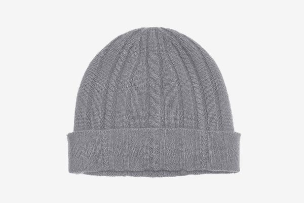 State Cashmere Cable Knit Cuffed Beanie