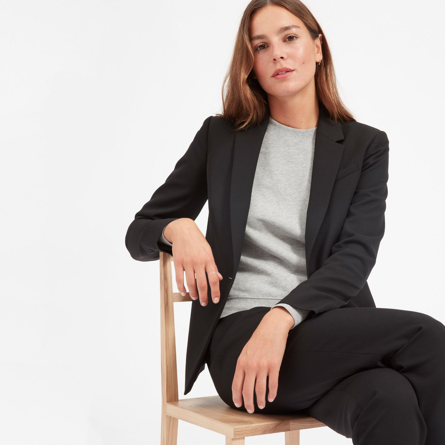 Everlane The Italian GoWeave Classic Blazer in Black