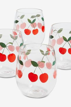 Martha Stewart Collection Berry Acrylic Stemless Wine Glasses (Set of 4)