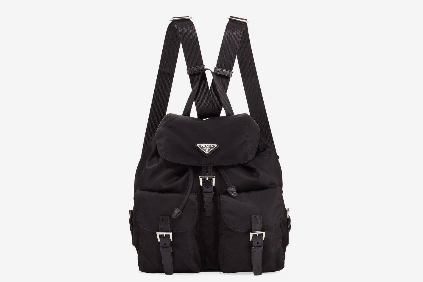 Prada Vela Large Two-Pocket Backpack