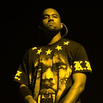 Musician Kanye West performs during the