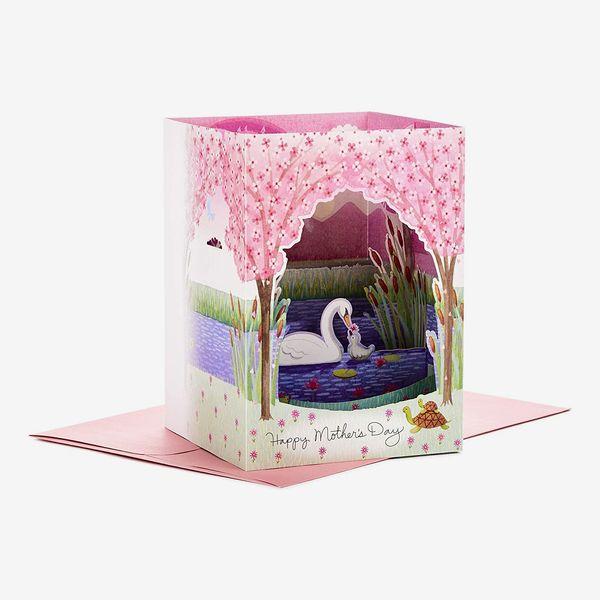 Hallmark Paper Wonder 3D Pop Up Mothers Day Card (Swans)