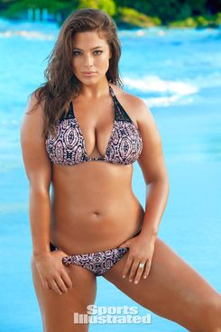 Ashley Graham in SI Swimsuit, on sale February 15th.