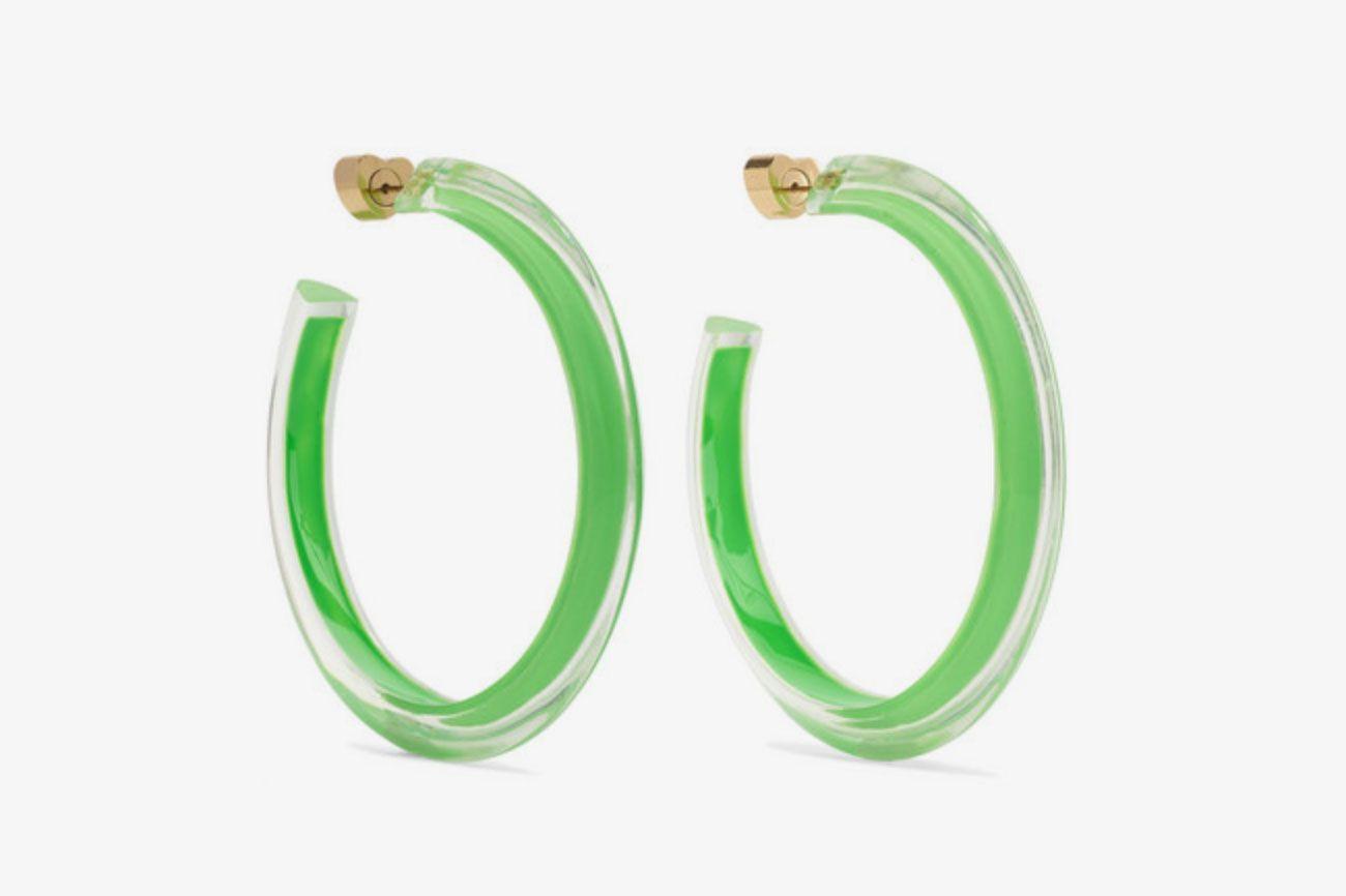 Alison Lou lucite earrings