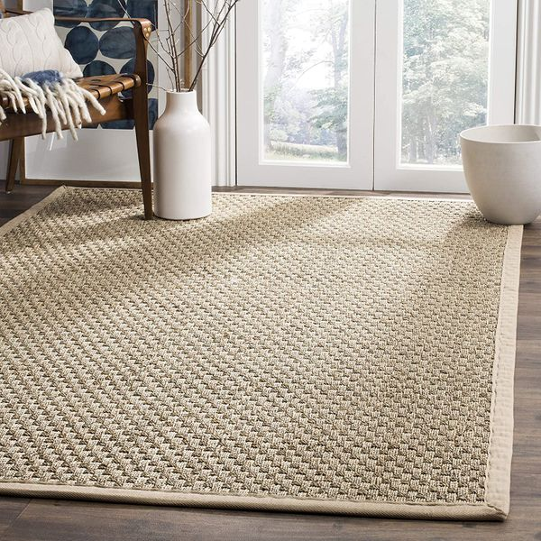 Safavieh Basket-Weave Summer Seagrass Area Rug (4' x 6')