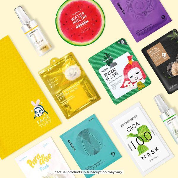 FaceTory Handpicked Korean Sheet Masks Subscription Box
