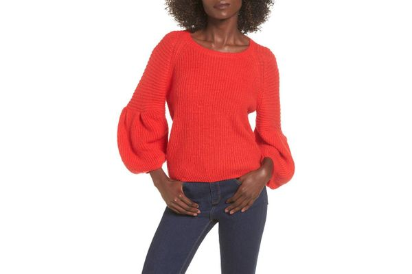 Leith Bubble Sleeve Sweater