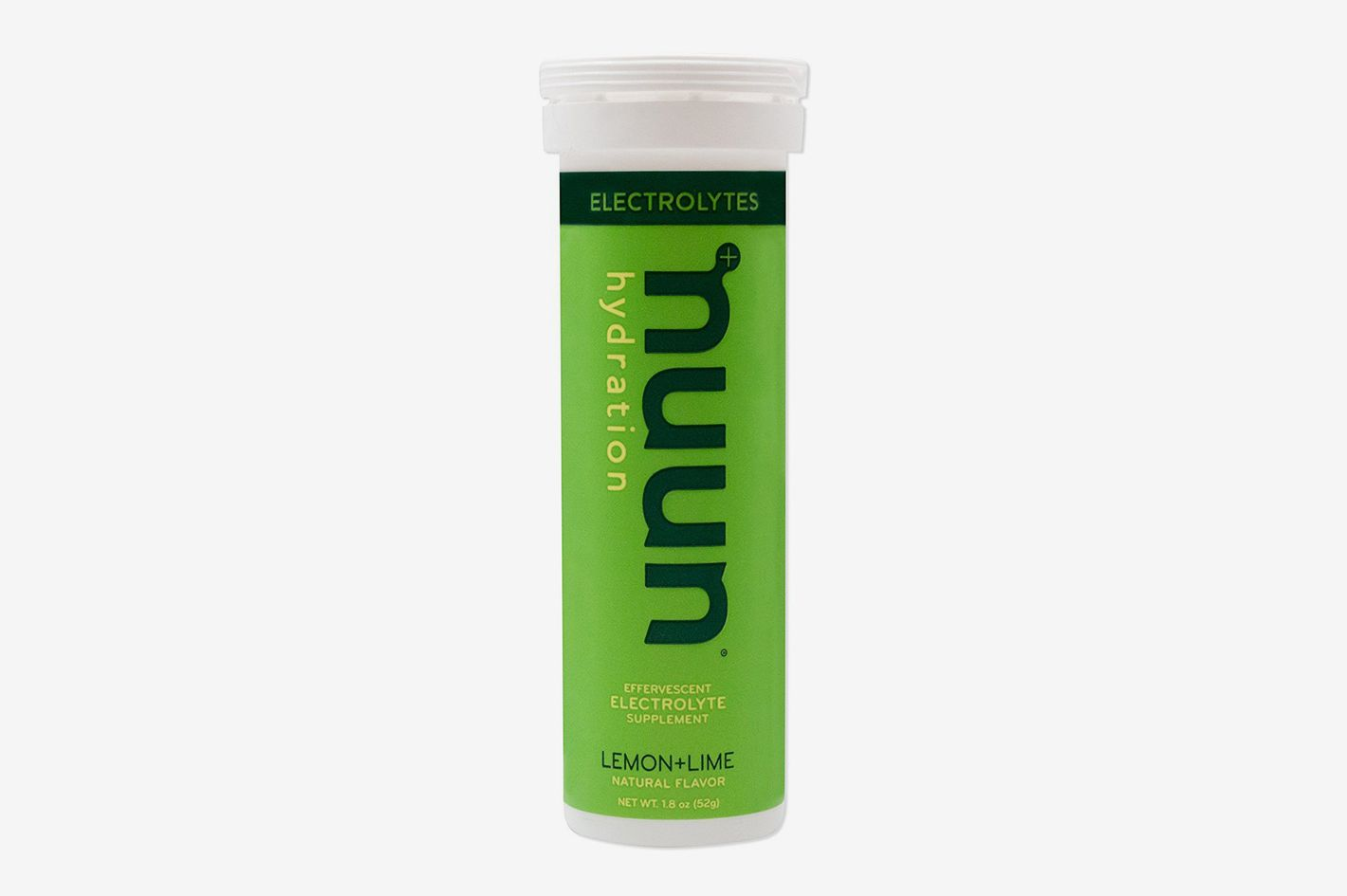 Nuun Hydration: Electrolyte Drink Tablets, Lemon Lime, Box of 8 Tubes (80 servings)