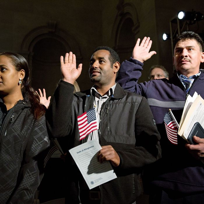Obama Speaks At Naturalization Ceremony