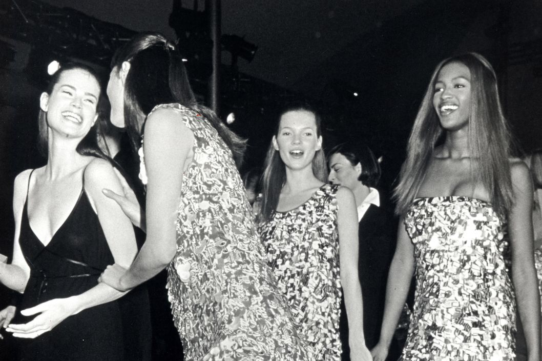 Christy Turlington, model, Kate Moss and Naomi Campbell (Photo by Ron Galella, Ltd./WireImage)