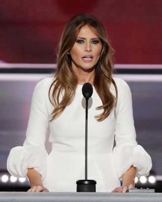 Melania Trump speaks at the RNC.
