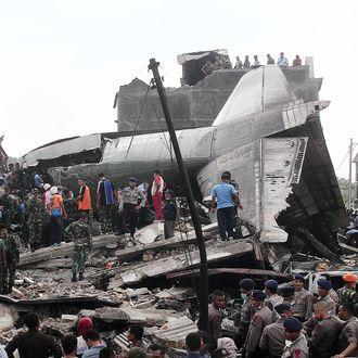 Indonesian military plane crash