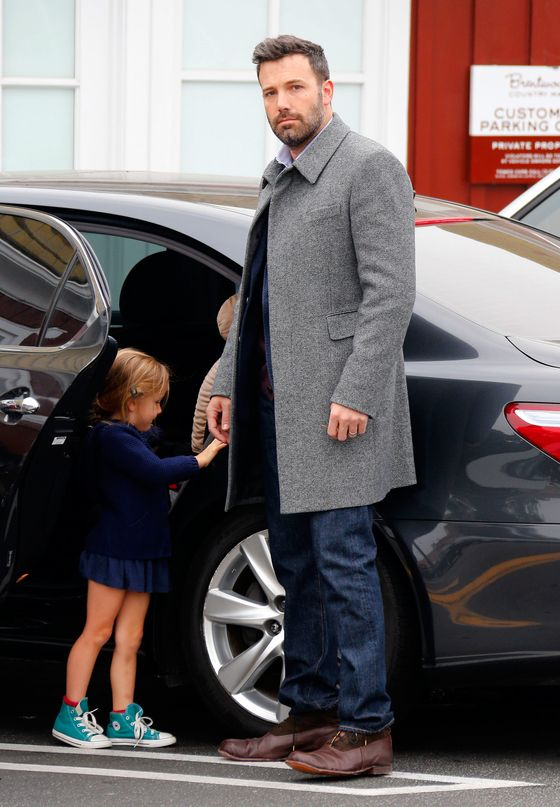 Ben Affleck and Seraphina seen out in Brentwood.