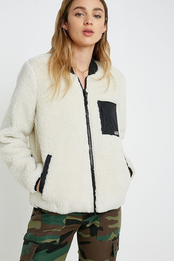 Vans Misty Fog White Fleece Jacket
