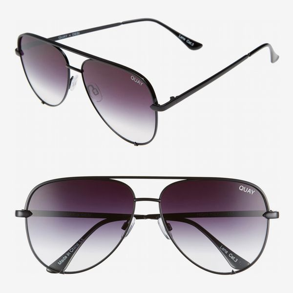 Quay Australia High Key 62mm Oversize Aviator Sunglasses