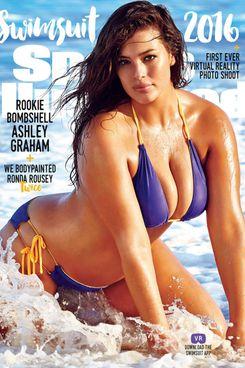 Ashley Graham on the cover of <em>Sports Illustrated</em>.