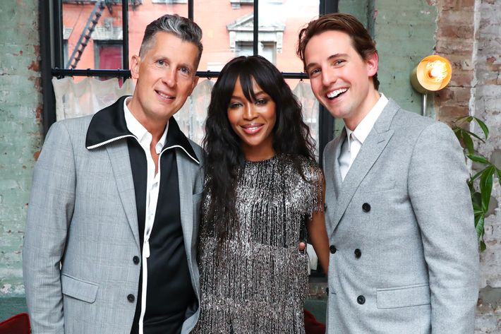 Stefano Tonchi, Naomi Campbell, and Alexander Gilkes.