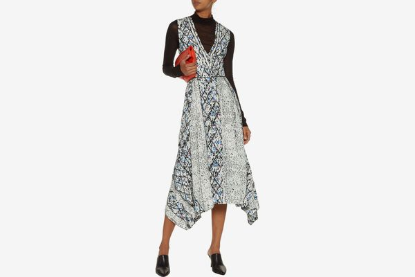 PROENZA SCHOULER Printed silk-georgette midi dress