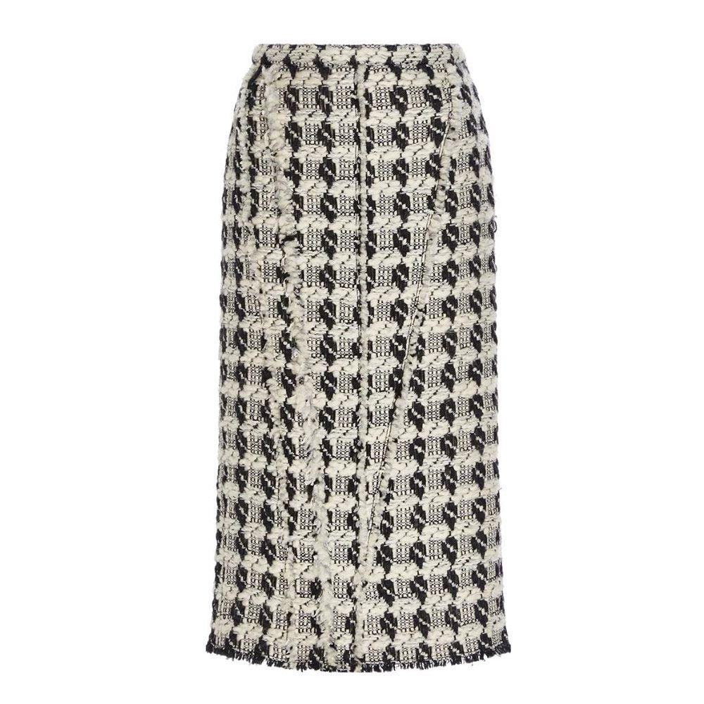Rochas tweed wool pencil skirt