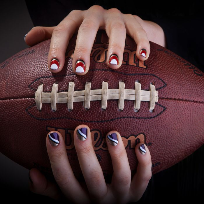May The Best Nail Art Win Ravens Vs 49ers
