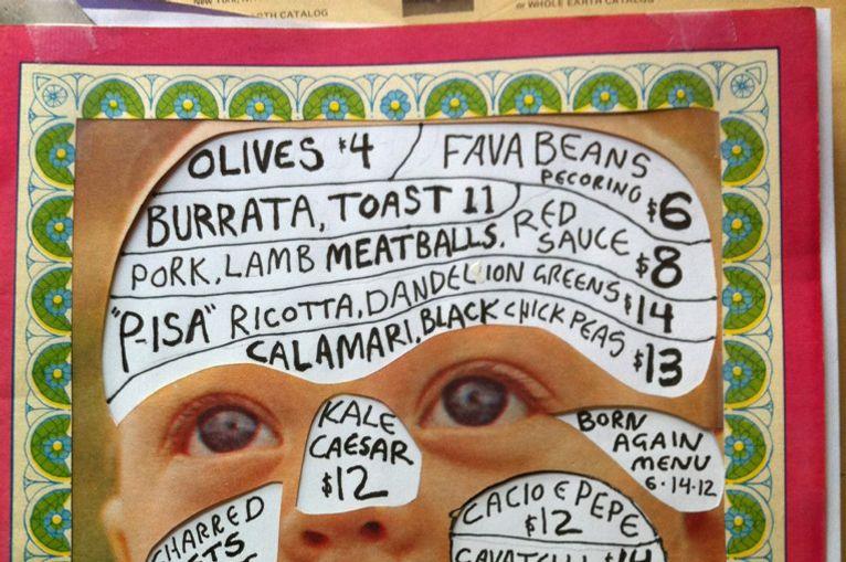 Isa's menu, born again.