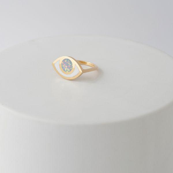 Pia Third Eye Ring - Opal Vermeil