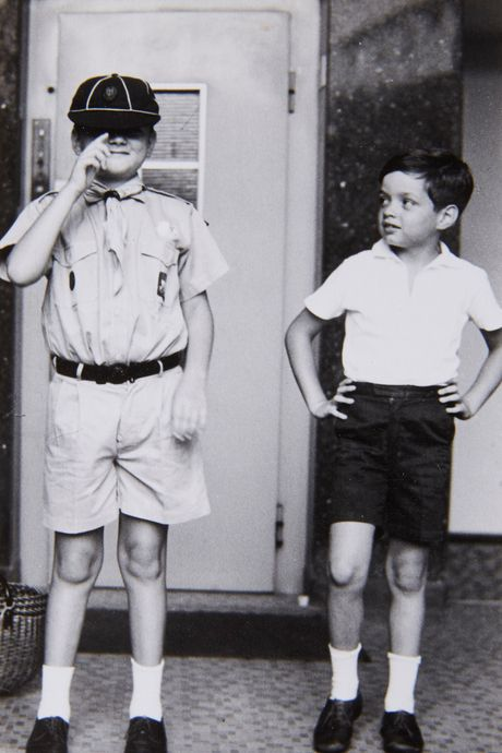 As a British Boy Scout, with brother Oliver, Hong Kong, 1966 (or thereabouts)