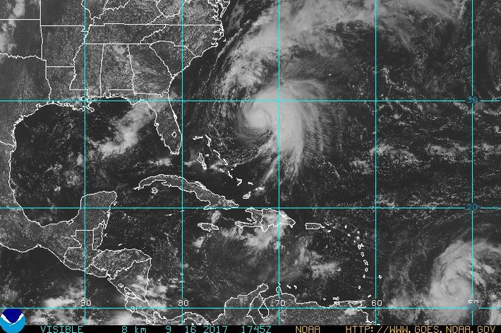 satellite image of hurricane jose and to the far southeast tropical depression 15 as of saturday photo noaa