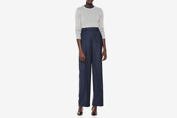 Theory Women's High Waisted Wide Leg Pleat Trouser