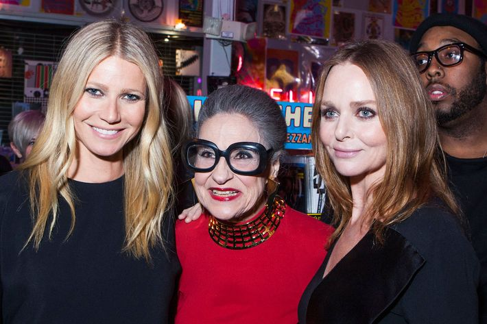 Gwyneth Paltrow, Joy Venturini Bianchi, and Stella McCartney.