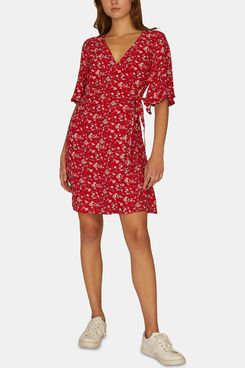 Sanctuary Girl On Fire Floral Print Wrap Dress