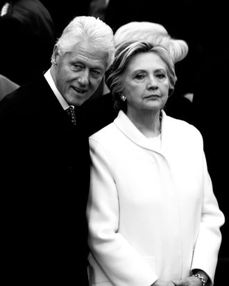 Hillary and Bill Clinton at President Trump's inauguration.