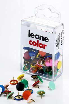 Leone Dell'Era Multicolored Drawing Pins, 150 Count