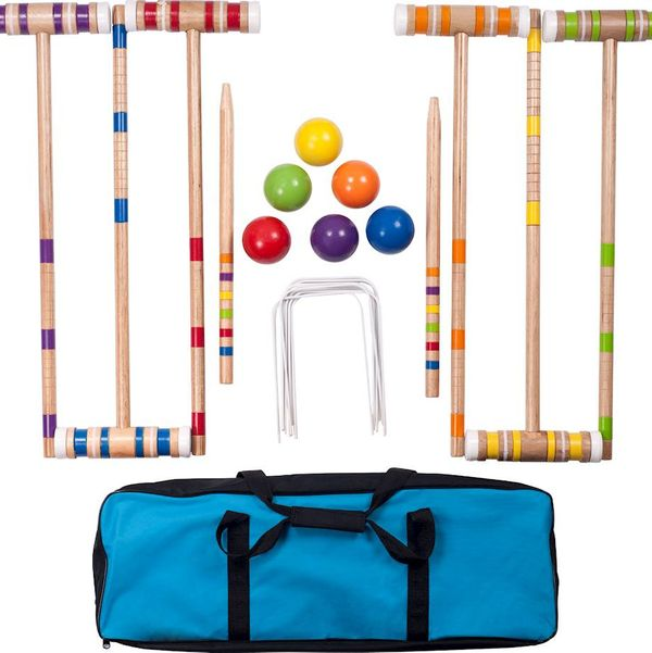 Hey! Play! Croquet Set with Carrying Case