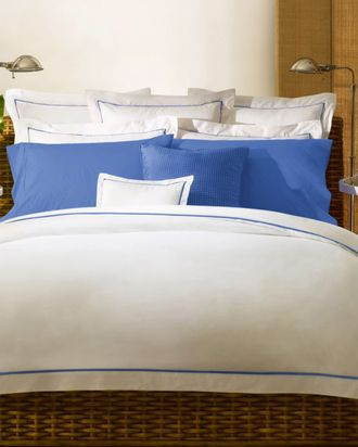 Perfect Ralph Lauren White And Blue Duvet Cover