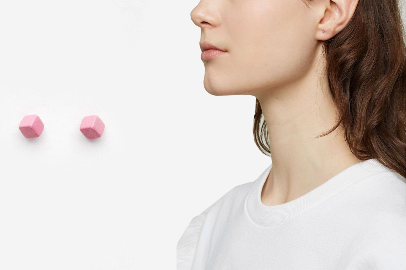 Julien David Cube Pierce Long Earring