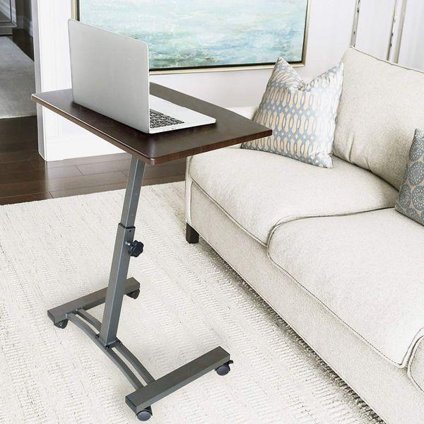 Seville Classics Height-Adjustable Mobile Laptop Computer Desk Cart