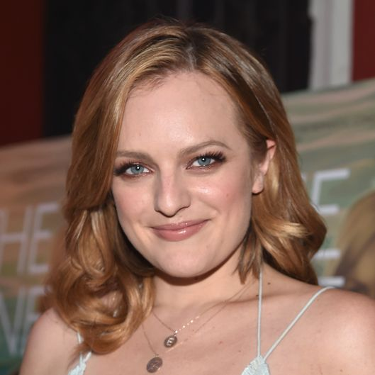 "LOS ANGELES, CA - AUGUST 07:  Actress Elisabeth Moss arrives to the premiere of RADIUS-TWC's ""The One I Love"" at the Vista Theatre on August 7, 2014 in Los Angeles, California.  (Photo by Alberto E. Rodriguez/Getty Images)"