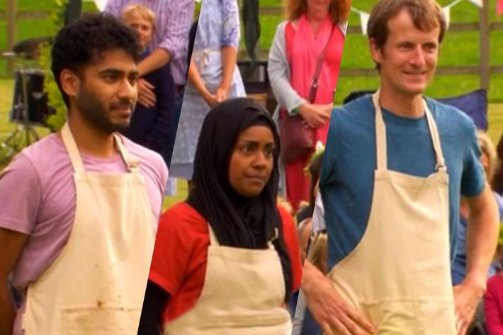 Finalists Ian Cumming, Nadiya Hussain, and Tamal Ray.