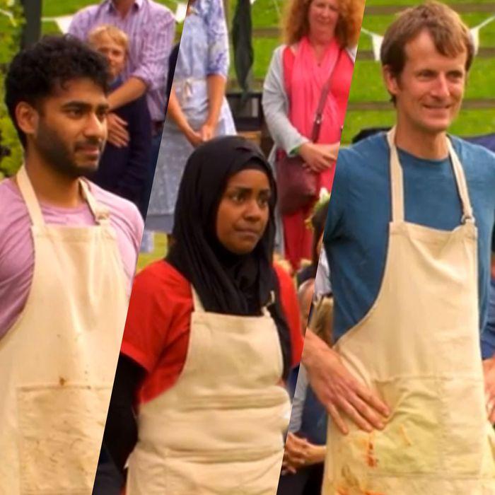 Finalists Ian Cumming, Nadiya Hussain, and Tamal Ray.