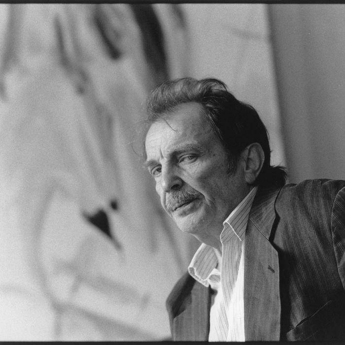 Austrian artist Franz West. Vienna. Photograph. 2002.