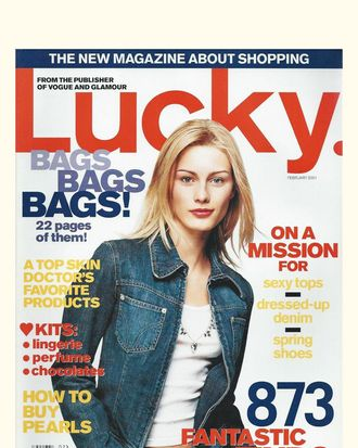 February 2001 Lucky Cover