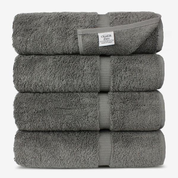 Chakir Turkish Cotton Luxury Hotel & Spa Bath Towel — Set of 4