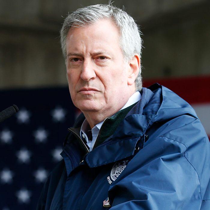 New York Mayor Bill de Blasio.